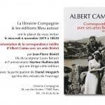 Présentation de la correspondance inédite d'Albert Camus avec ses amis Bénisti à la librairie Compagnie